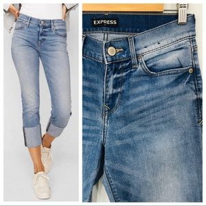 Express | Cropped Skinny Mid Rise